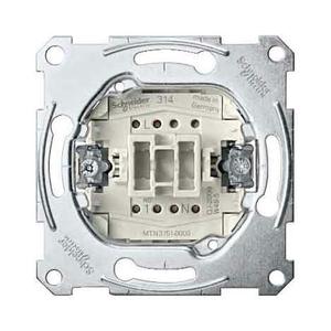 3754-0000 Merten Механизм 1-полюсного кнопочного выключателя с замыкающим контактом и отдельным контактом сигнализации, для накладки с карточкой-ключом