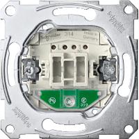 3760-0000 Merten Механизм 1-полюсного кнопочного выключателя с замыкающим контактом, отдельным контактом сигнализации и световым индикатором для ориентации в темном помещении, для накладки с карточкой-ключом
