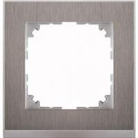 4010-3646 Merten рамка 1-постовая рамка(нерж.сталь/цвет алюминия)