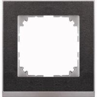 4010-3669 Merten рамка 1-постовая рамка(сланец/цвет алюминия)