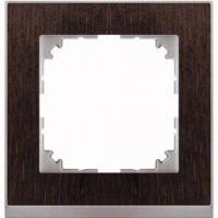4010-3671 Merten рамка 1-постовая рамка(венге/цвет алюминия)