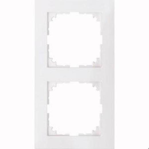 4020-3619 Merten рамка 2-постовая рамка(полярно-белый)