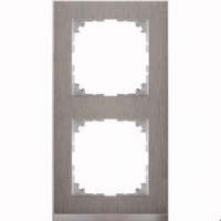 4020-3646 Merten рамка 2-постовая рамка(нерж.сталь/цвет алюминия)
