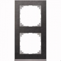 4020-3669 Merten рамка 2-постовая рамка(сланец/цвет алюминия)