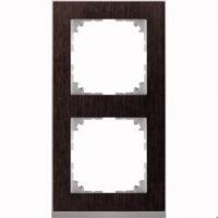 4020-3671 Merten рамка 2-постовая рамка(венге/цвет алюминия)