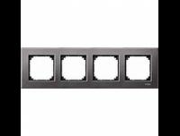 403414 Merten рамка 4-я (серый родий)