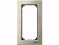 403805 Merten рамка 2-я без перегородки (титан)