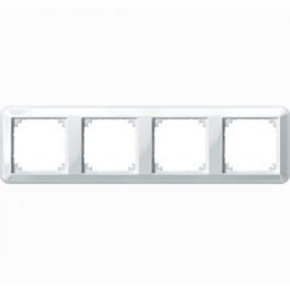 4040-1219 Merten рамка 4-я (белый)