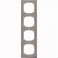4040-3646 Merten рамка 4-постовая рамка(нерж.сталь/цвет алюминия)
