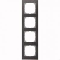 4040-3669 Merten рамка 4-постовая рамка(сланец/цвет алюминия)