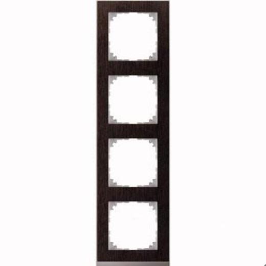 4040-3671 Merten рамка 4-постовая рамка(венге/цвет алюминия)