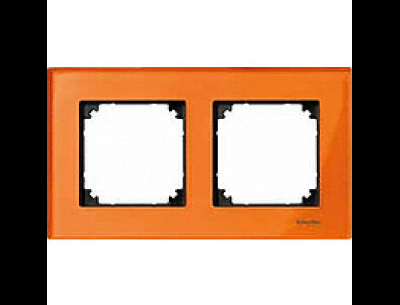 404202 Merten рамка 2-я (оранжевый кальцит)