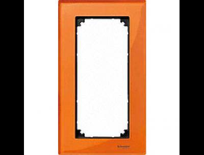 404802 Merten рамка 2-я без перегородки (оранжевый кальцит)