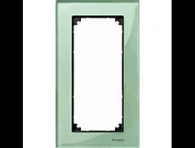 404804 Merten рамка 2-я без перегородки (зеленое)