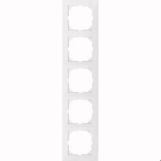 4050-3619 Merten рамка 5-постовая рамка(полярно-белый)