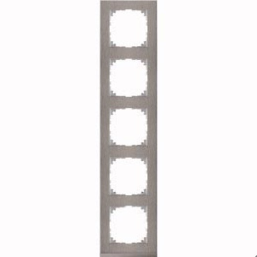 4050-3646 Merten рамка 5-постовая рамка(нерж.сталь/цвет алюминия)