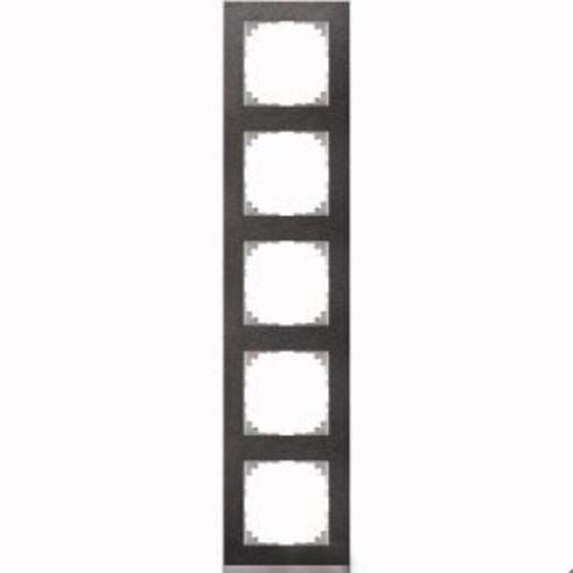 4050-3669 Merten рамка 5-постовая рамка(сланец/цвет алюминия)