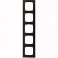4050-3671 Merten рамка 5-постовая рамка(венге/цвет алюминия)