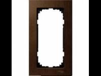 4058-3473 Merten рамка 2-я без перегородки (орех)