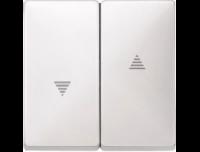 411519 Merten клавиша 2-ая жалюзийная (полярно белый)