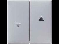 411560 Merten клавиша 2-ая жалюзийная (алюминий)