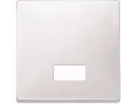 411819 Merten клавиша 1-ая с окошком без линзы (полярно белый)