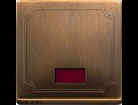 411843 Merten клавиша 1-ая с окошком, без линзы (античная латунь)