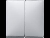 412560 Merten клавиша 2-ая (алюминий)