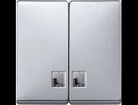 413560 Merten клавиша 2-ая с/п (алюминий)