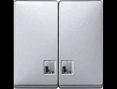 413546 Merten клавиша 2-ая с/п (сталь)