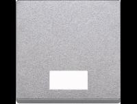 433860 Merten клавиша 1-ая с окошком, без линзы (алюминий)