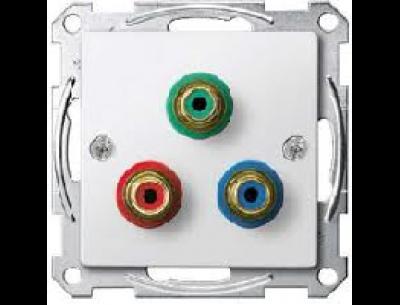 4351-0319 Merten механизм аудио/видео розетки