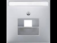 466419 Merten накладка розетки тлф/комп 1-ой прямой (полярно белый)