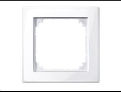 478125 Merten рамка 1-ая (белый актив)