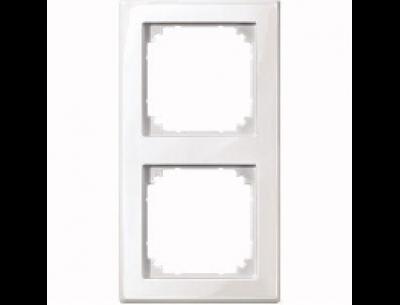 478219 Merten рамка 2-ая (белый глянцевый)