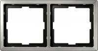 481246 Merten рамка 2-ая (сталь)