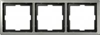 481346 Merten рамка 3-ая (сталь)