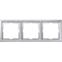 481360 Merten рамка 3-ая (алюминий)