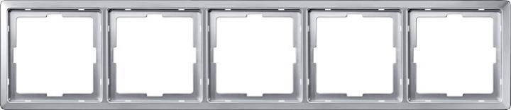 481560 Merten рамка 5-ая (алюминий)