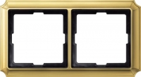 483221 Merten (блестящая латунь) рамка 2-ая (золото)