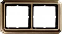 483243 Merten рамка 2-ая (античная латунь)