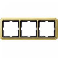 483321 Merten (блестящая латунь) рамка 3-ая (золото)