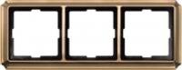 483343 Merten рамка 3-ая (античная латунь)