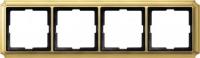 483421 Merten (блестящая латунь) рамка 4-ая (золото)