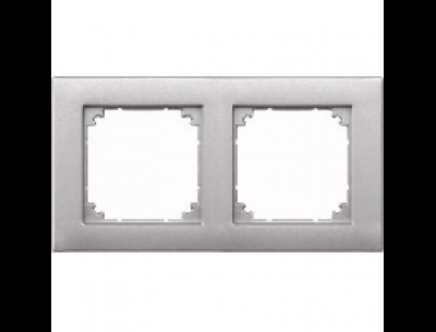 486260 Merten рамка 2-ая (алюминий)