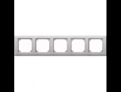 486560 Merten рамка 5-ая (алюминий)