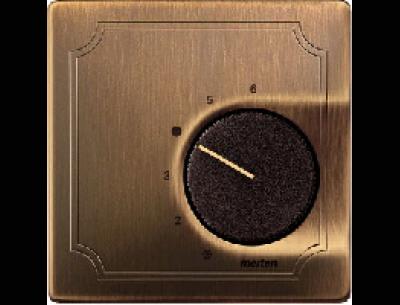 537443 Merten накладка термостата комнатного (мех.536400,536401) (античная латунь)