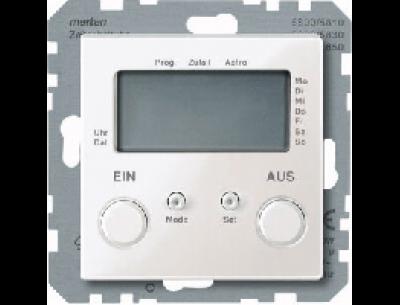 581219 Merten таймер 2-программный (белый глянцевый)