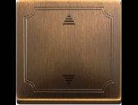 584243 Merten накладка электронного кнопочного выключателя жалюзи (античная латунь)