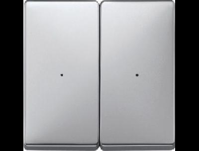 626260 Merten накладка светорегулятора 2-х канального нажимного (алюминий)